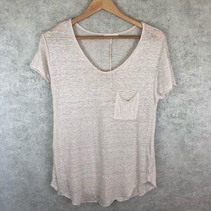 Lush Cream Short Sleeve Pocket T-shirt